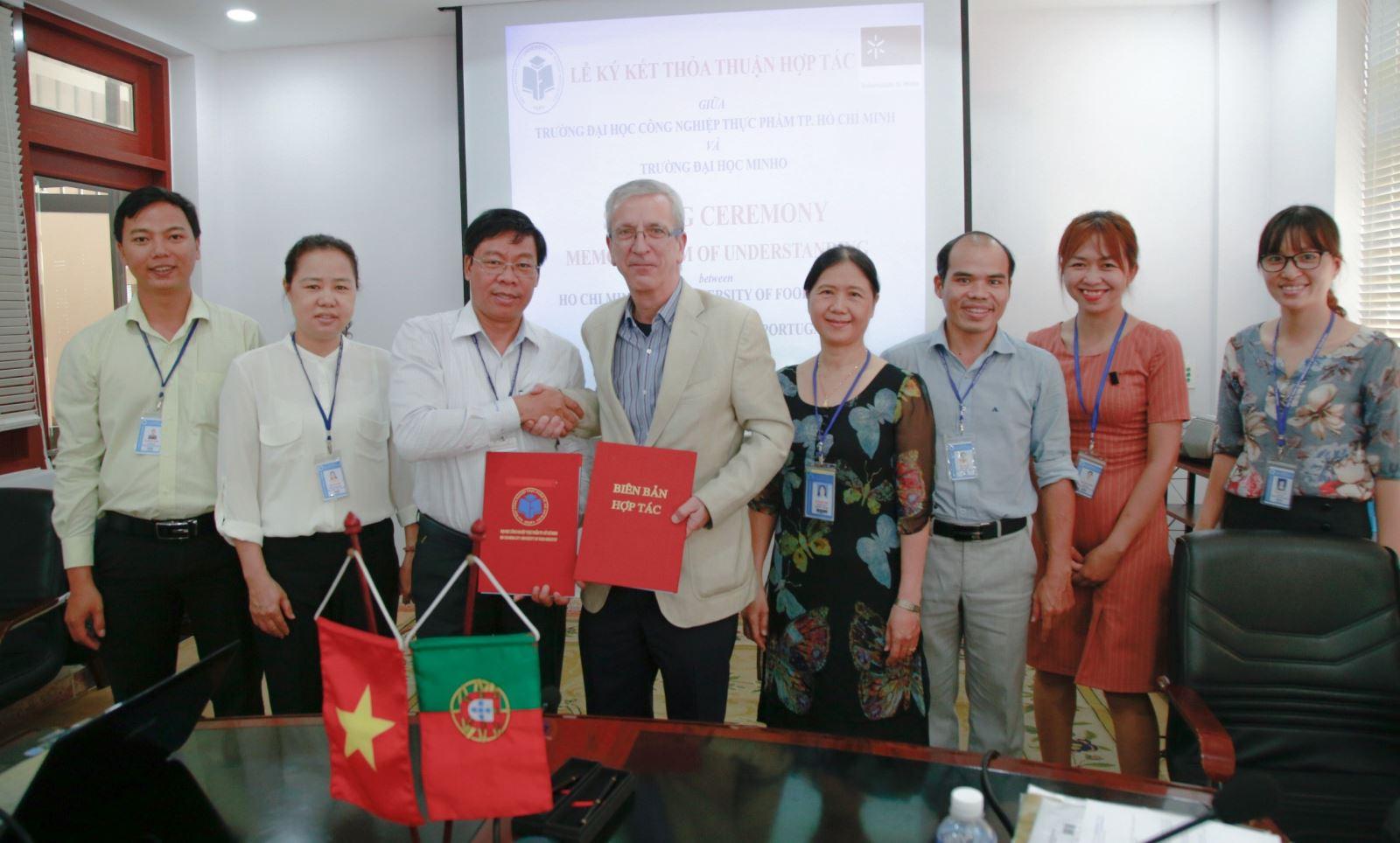 Lễ ký kết thỏa thuận hợp tác giữa Trường Đại học Công nghiệp Thực phẩm TP HCM (HUFI) và Trường Đại học Minho (Bồ Đào Nha)